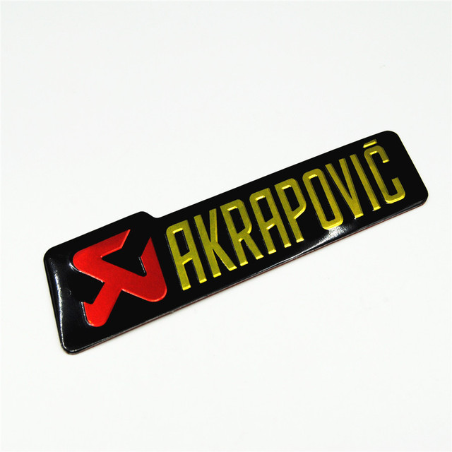 Auto Motorfiets Aluminium hittebestendig Uitlaatpijpen Sticker Label 140X39mm Schorpioen Yoshimura Akrapovic Decal Epoxy CBR250 KTM