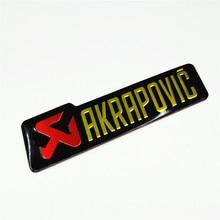 Car Motorcycle Aluminium Heat-resistant Exhaust Pipes Sticker Label 140X39mm Scorpio Yoshimura Akrapovic Decal Epoxy CBR250 KTM