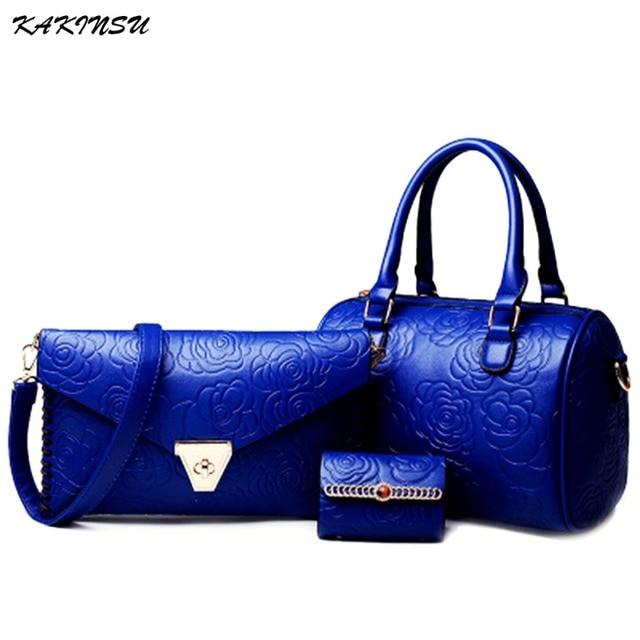 3 Sets Leather Women Shoulder Bag Handbag Lady Messenger Bag Brand Design Tote Top-handle Female Purse sac a main Herald Fashion