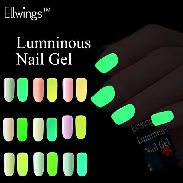 Ellwings 18 colores serie de Luminoso Fluorescente esmalte de Uñas ...