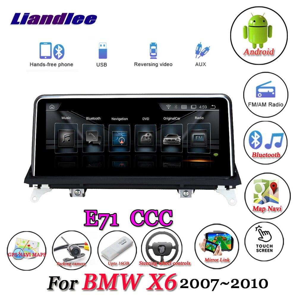 Liandlee pour BMW X6 E71 2007 ~ 2010 Original CCC système Radio Wifi BT Idrive AUX Carplay GPS carte Navi Navigation multimédia pas de DVD