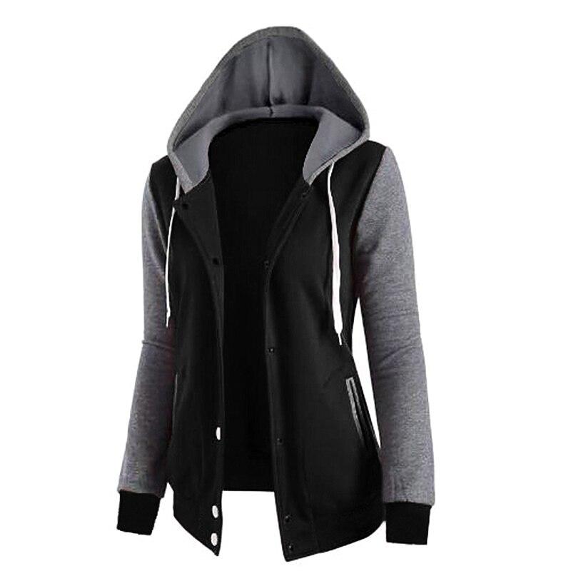 2018 New Fashion Women Sweatshirts  Zipper Hooded  Long Sleeve Ladies Hoodie Fall Winter Ladies Coats
