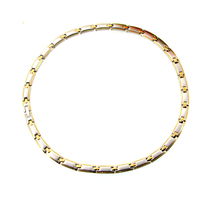 Fasion Jewelry 24K Gold 316L Stainless Steel Necklace Link Chain Health Necklace For Women Men Necklaces High Quality Never Fade