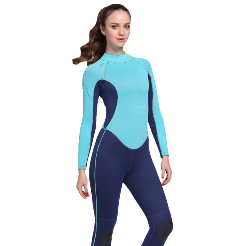 C171 The new 3MM rubber diving suits warm winter swimming long sleeve conjoined swimsuit thick jellyfish service snorkeling fema c229 new 3mm thick male warm winter swimwear male diving suit snorkeling dress long sleeve even body jellyfish clothing