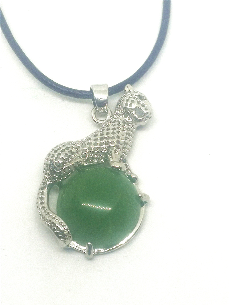 Koraba Fine Jewelry S925 Silver Leopard Shape Inlaid Natural Hetian Jade Pendant Accessories Necklace Free Shipping selling jewelry xinjiang hetian jadeite jadeite overlord pendant natural jadeite men 18 arhat necklace pendant