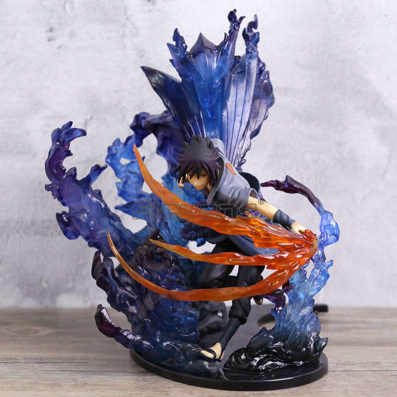 Naruto Shippuden anime-dibujos Uchiha Sasuke/Uchiha Itachi Susanoo Kizuna relación con estatua PVC figura de juguete modelo de recogida