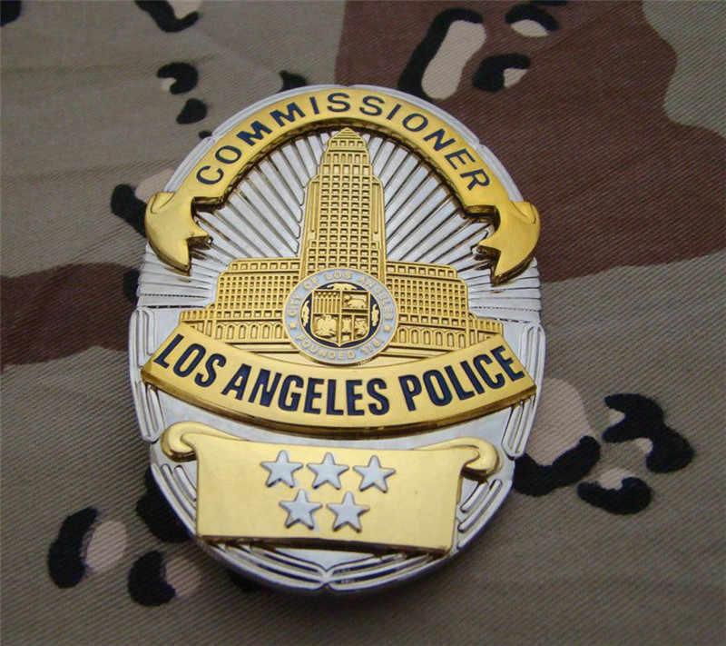 Stati Uniti Los Angeles Los Angeles Distintivi e Simboli Rame LAPD Comandante Camicia Risvolto Distintivo Spilla Spille Distintivo 1:1 Regalo Cosplay