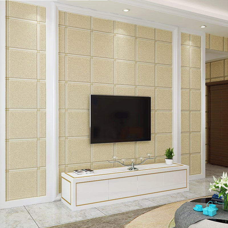 Modern 3D Embossed Lattice Wallpaper For Bedroom Living Room TV Sofa Backdrop Wall Paper Non-Woven Home Decor Papel De Parede 3D 3d modern wallpapers home decor solid color wallpaper 3d non woven wall paper rolls decorative bedroom wallpaper green blue