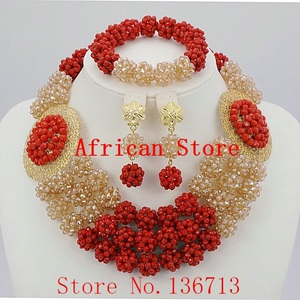 African Wedding Coral Beads Je