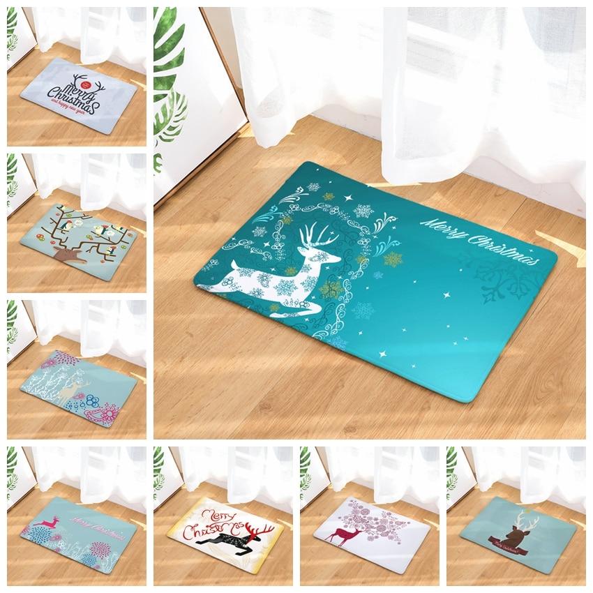 40x60cm 50x80cm Christmas Deer Pattern Carpet Door Mats