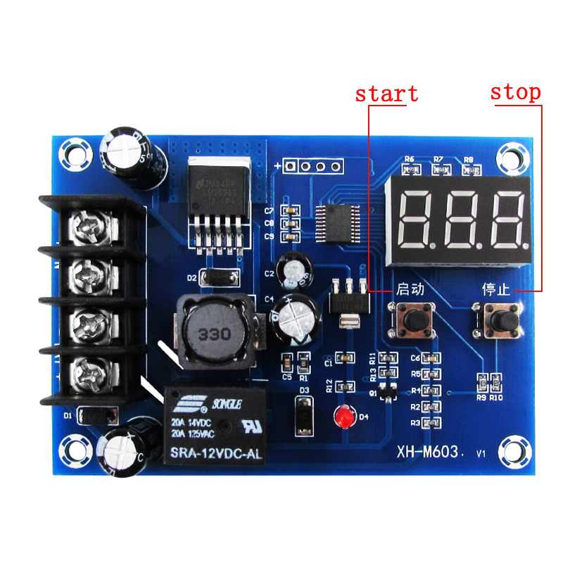 NEW! XH-M603 With LED Display AFIT Charge Control Module 12-24V Storage Lithium Battery Control Smart Switch Protection Board