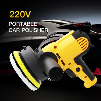 Elektryczna maszyna do polerowania samochodu 220V 500-3500rpm 600W Auto szlifierka 6 prędkości szlifierka polski woskowanie narzędzia akcesoria samochodowe tanie i dobre opinie AUTO CARE 125mm 1 3kg Yellow