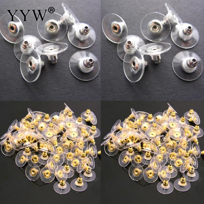 Пластик баррель пуля Стиль уха гайка с покрытием сплава цинка больше цветов для выбора 5-10 мм 10 пар/упак.