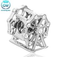 Silber Lose Perlen Für Schmuck Machen 925 Sterling Silber European Style Fit Marke Diy Armband Schlangenkette GW Marke X217