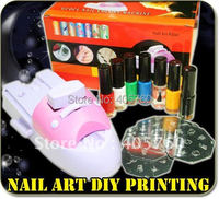 Nail Art Stamper Colour Printer Printing Stamp Machine Nail Stamping Printing Machine Polish Nail Printer Set