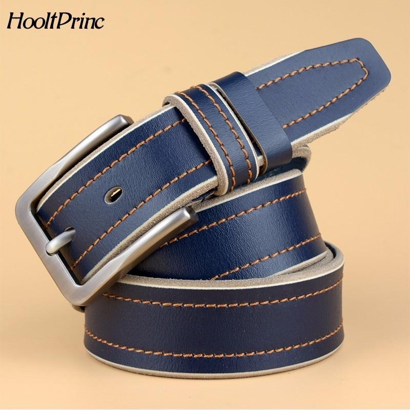 Casual Patchwork Men   Belts   Designers Luxury Men Fashion   Belt   Trends Trousers QUALITY Cow Genuine Luxury Leather Men   Belts