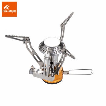 Fire Maple One-Piece Foldable Gas Stove Light Weight Stainless Steel Outdoor Cooker Gas Burner Camping Equipment FMS-102