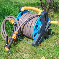 Newly Garden Hose Reel Stand Water Pipe Storage Rack Cart Holder Bracket for 35m 1/2 Inch Hose