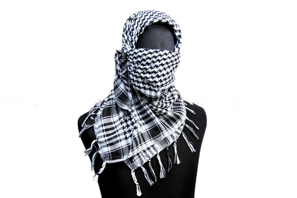 "Military Scarf Tactical Scarf Us Military 42"" Veil Scrim Camo Scarf B White Od Tan[sc-03] Selling Well All Over The World"