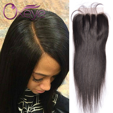 Top 7a 4×4 Lace Closure with Baby Hair Cheap Peruvian Closure Straight Three/Middle/Free Part Peruvian Virgin Human Hair Closure