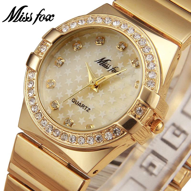 MISSFOX Miss Fox Fashion Watch Women 2018 Silver Waterproof Ladies Watches Luxury Bracelet Women Watches Gold Relogio Feminino
