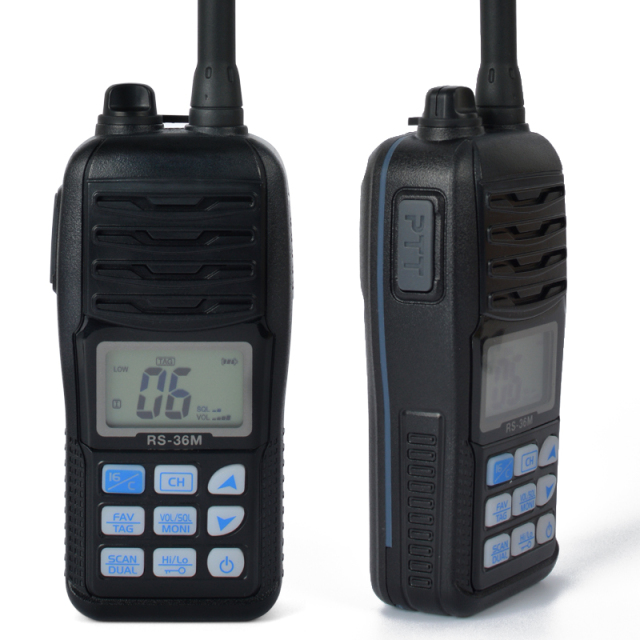 Waterproof IP-X7 Handheld HF Transceiver Portable Walkie Talkie Marine Radio 80CH VHF