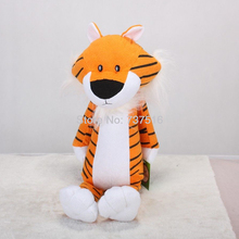 "Baru 18 ""Orange Tiger Cute Figure Sweet Tumbuh Hitam Putih Mainan Plush Boneka Binatang Binatang Hadiah Xmas"