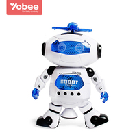 Yobee Smart Rotate Robot Electronic Dance Action Toys With Music Light Kids Gift Astronaut Toys For