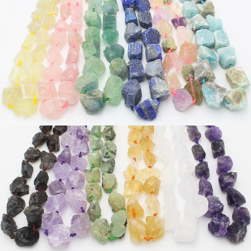 Rough Natural Stone Freeform Beads For Jewelry 15