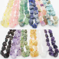 "Rough Natural Stone Freeform Beads For Jewelry 15"",Amazonites,Garnet,Citrin,Clear Quartzs, Rose Quartzs, Fluorite"