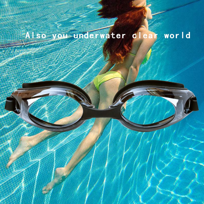 New Adult Swimming Silicone Anti-fog Coating Water Dioptric Swimming Goggles Glasses Myopia Swimming Glasses