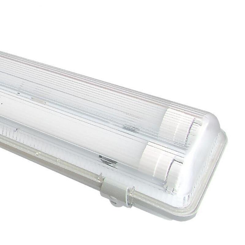 2pcs 2Feet(0.6M) 10 Watt Waterproof Double LED T8 Tube With Tri proof Fixture AC100 245V LED Tri proof Light Pure White