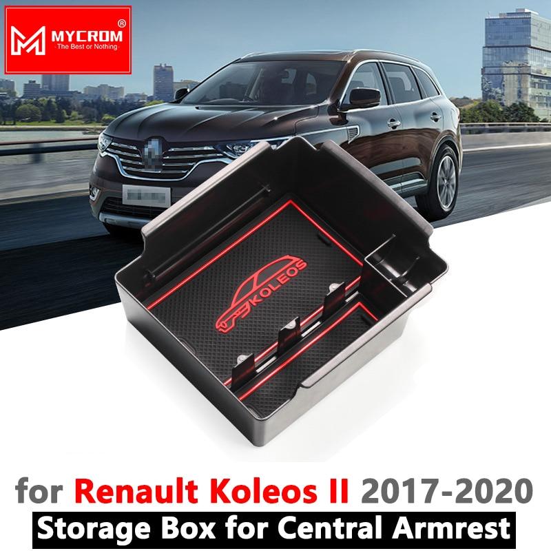 For Renault Koleos 2017-2018 Car central armrest storage box organizer case tray