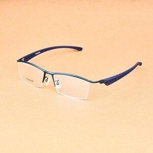 Image 5 - העסקי גדול משקפיים מסגרת גברים משקפי טהור טיטניום אופטי מרשם Oculos גדול גודל משקפיים