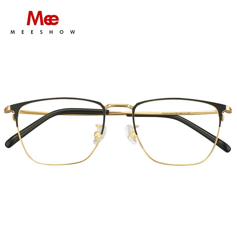 Montura de gafas de titanio Meeshow B para hombre y mujer, montura óptica, gafas cuadradas, gafas de titanio, miopic, 1812 - 4
