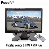 7 Inch TFT LCD Color 2 Video Input PC Audio Video Display VGA HDMI AV Input