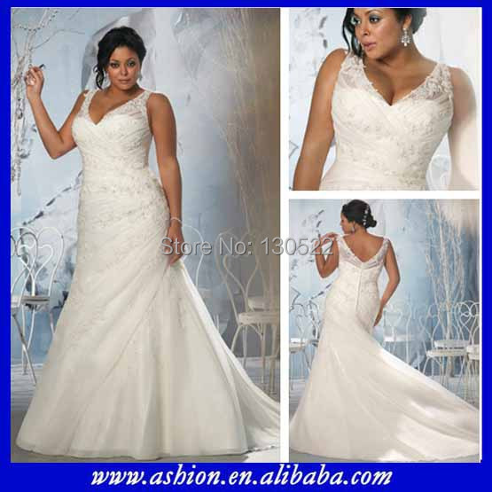 We 1831 Free Shipping Sheer Shoulder Straps Tank Top Plus Size Wedding Dress Patterns