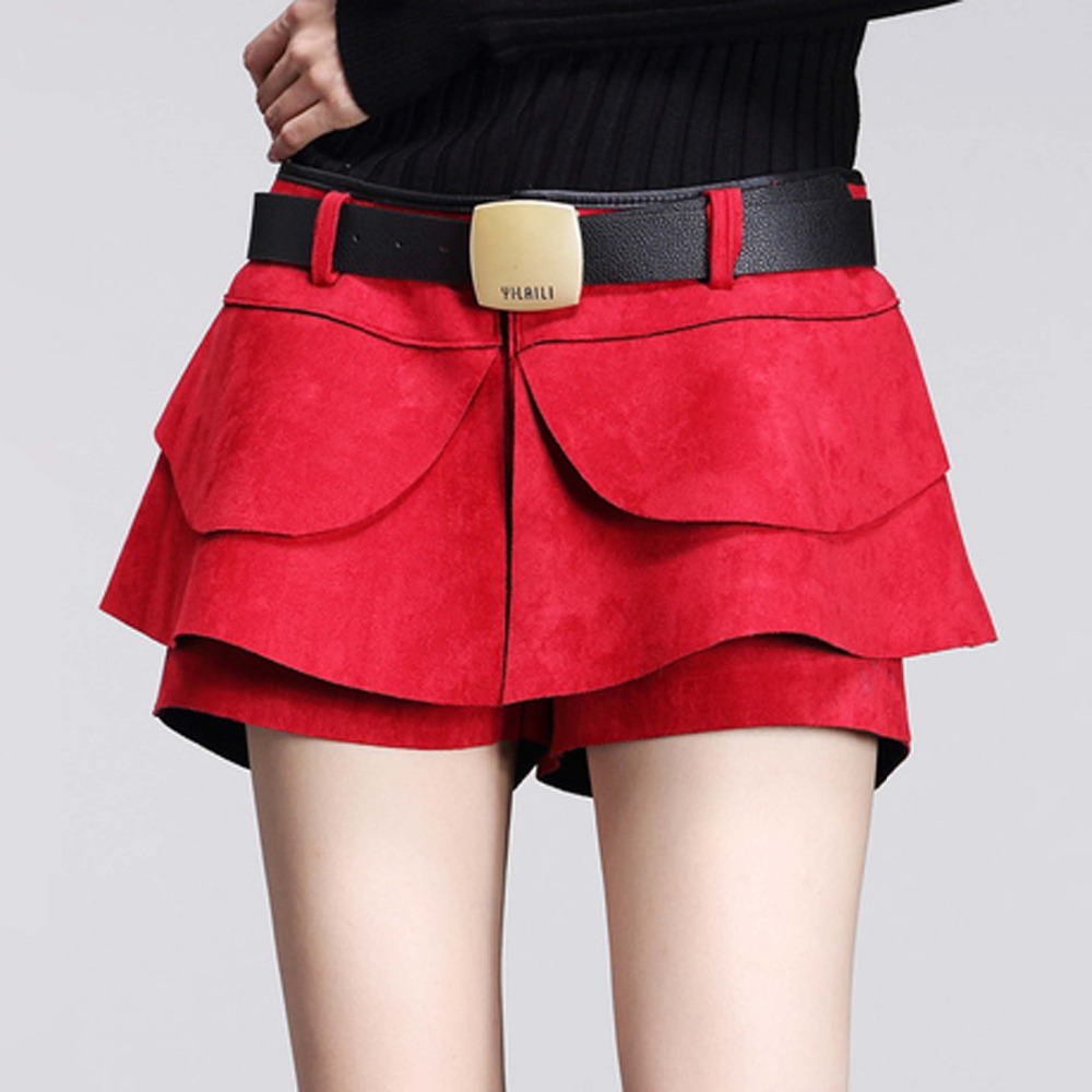 38cb8e37a83 saias femininas leather skirt Fashion 2015 new skirt plus size skirts womens  party sexy high quality casual tropical faldas-in Shorts from Women s  Clothing ...