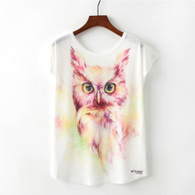 Vogue Unique Design Tees Animal Cartoon Pattern Print Women Summer T shirts Harajuku Korea Colorful Female Tops Streetwear