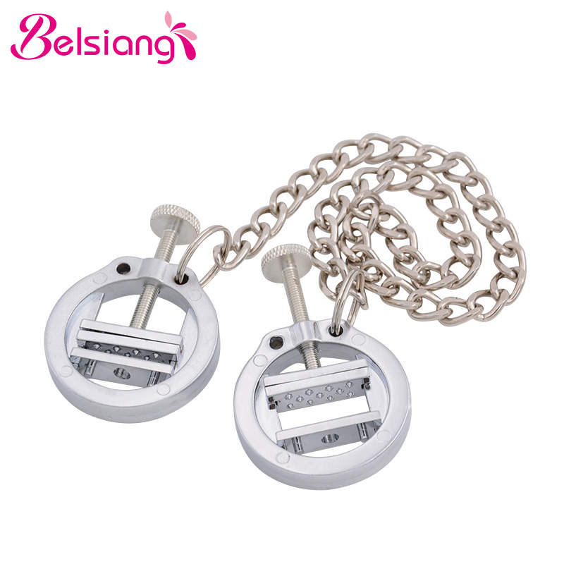Belsiang Bdsm Nipple Clamps Chain Clips For Women Torture Nipple Clamps Bondage Adjustable Breast Stimulate Sex Toys For Couples belsiang bdsm nipple clamps clip for women torture nipple clamps bondage slave adjustable breast stimulate sex toys for couples
