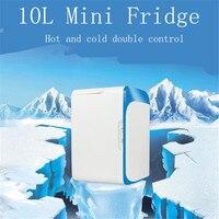 Бесплатная доставка 10l автомобильный мини холодильник Портативный 12 В Авто Путешествия держать Еда теплый холодильник ABS Функция дома куле