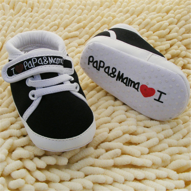 0-18M Baby Infant Kids Boy Girls Soft Sole Canvas Sneaker Toddler Newborn Shoes New 2