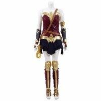 Wonder woman Cosplay Diana Książę Custome Kobieta Bitwa Jednolity Kostium Halloween Kostiumy Superhero Sukienka dla Kobiety Partyjnej Sukni