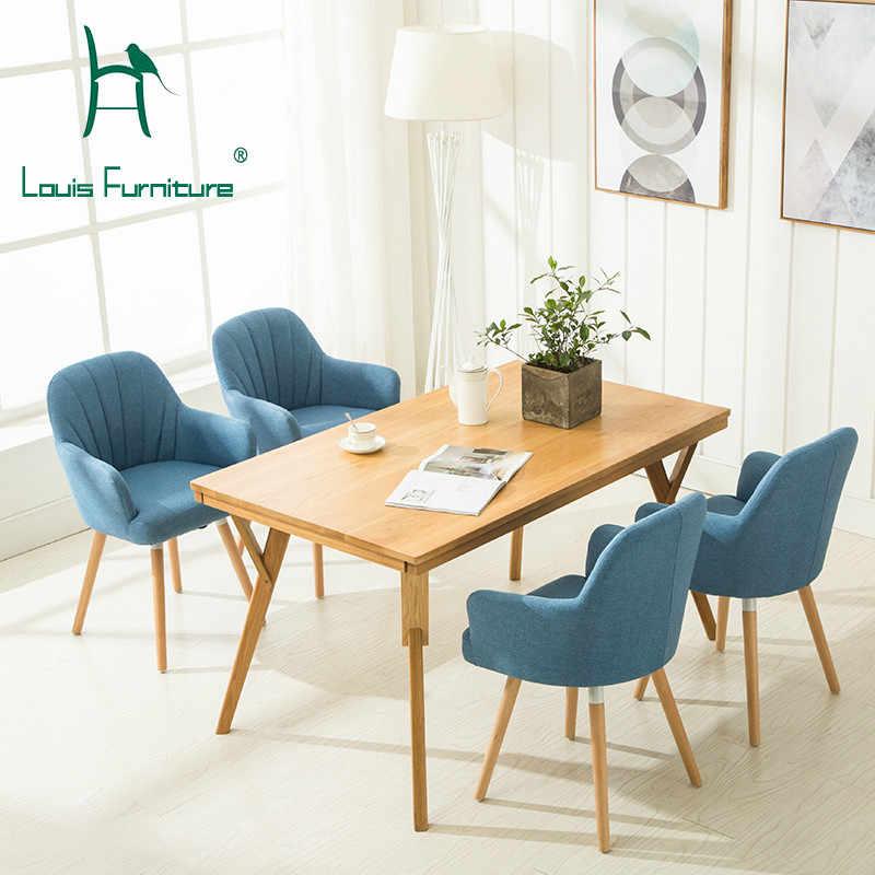 Louis Fashion Chaises De Salon Canape En Bois Simple Et Moderne Pour La Maison Approuve Par Approbation Nordique Aliexpress