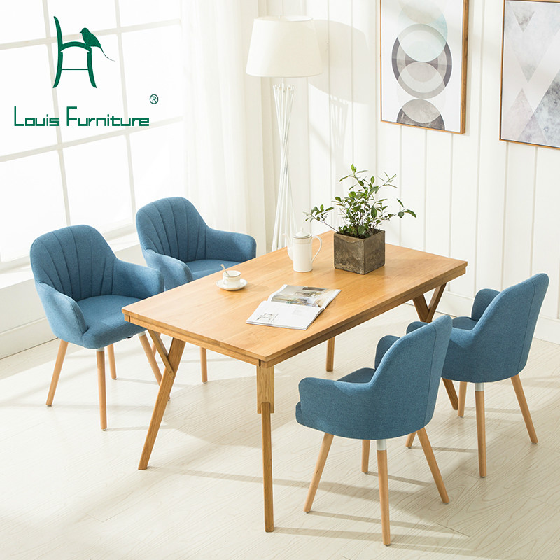 Incredible Us 61 6 Louis Fashion Living Room Chairs Nordic Dining Modern Simple Wooden Sofa Home By Endorsement In Living Room Chairs From Furniture On Spiritservingveterans Wood Chair Design Ideas Spiritservingveteransorg