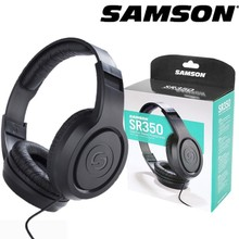 Samson SR350 Over-ear Stereo Headphones Portable Professional Audio Solutions Closed-back Earphone Lightweight with 1/4 Adapter samson professional z35 closed back studio headphones high protein leather comfortable over ear studio monitor headphones
