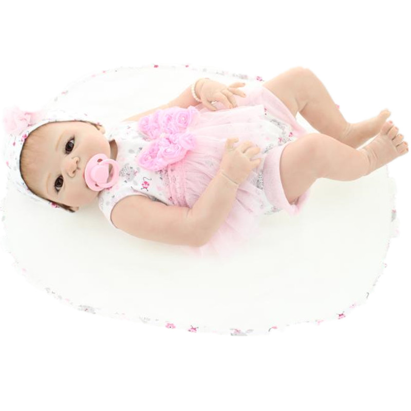 23 New Arrival Victoria Rooted Mohair Handmade Silicone Lifelike Sexy Baby Bonecas Bebe Reborn Doll For