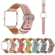 hot deal buy 6 colors fashion leather watchband+frame protective sleeve case for fitbit blaze bracelet smart watches band anti-fall frame
