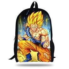 16-inch Mochila Infantil Dragon Ball Backpack Kids Boys Super Saiyan Children School Bags For Teenagers  Dragon Ball Bag