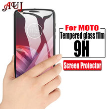 AUJ 9H Tempered Glass For Motorola Moto G4 G5 G6 Plus Play HD Screen Protector For Moto G5S Plus E4 X3 X4 Glass Film(China)